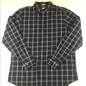 Banana Republic Button down window pane plaid